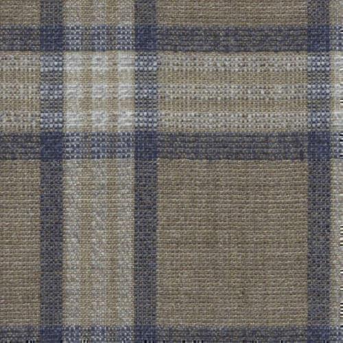 Tissu Holland and Sherry pour veste sur-mesure laine et soie marron clair Prince de Galles bleu marine