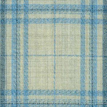 Tissu Holland and Sherry pour veste sur-mesure laine et soie sable Prince de Galles bleu ciel