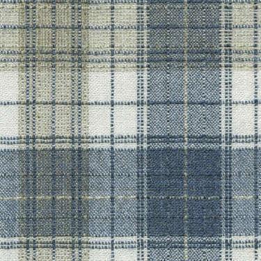 Tissu Holland and Sherry pour veste sur-mesure laine et soie beige clair tartan bleu et blanc