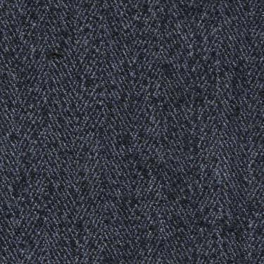 Tissu Holland and Sherry pour veste sur-mesure laine, polyamide et soie à chevrons bleu marine