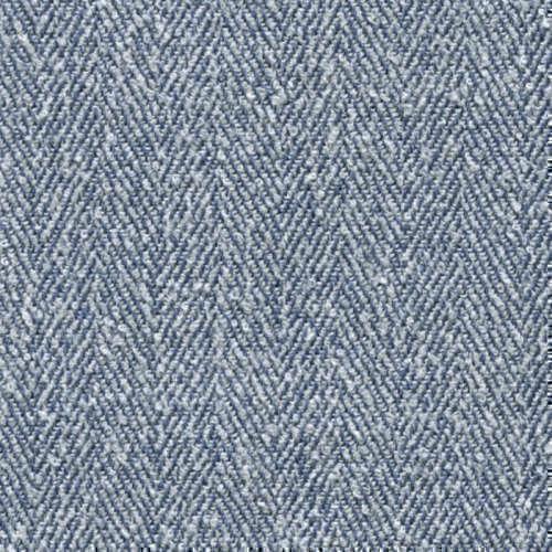 Tissu Holland and Sherry pour veste sur-mesure laine, polyamide et soie à chevrons bleu clair