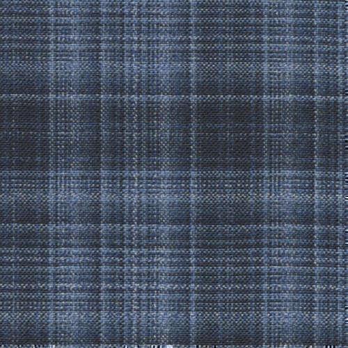 Tissu Holland and Sherry pour veste sur-mesure 100% laine bleu marine à carreaux linéaires