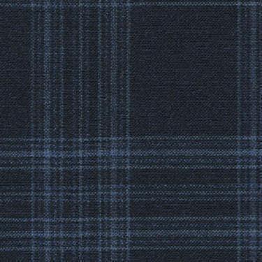 Tissu Holland and Sherry pour veste sur-mesure 100% laine bleu marine Prince de Galle bleu clair