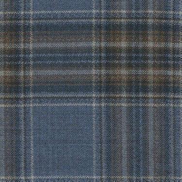 Tissu Holland and Sherry pour veste sur-mesure 100% laine bleu Prince de Galles marron et bleu marine