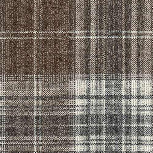 Tissu Holland and Sherry pour veste sur-mesure 100% laine tartan marron et gris