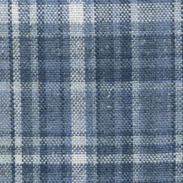 Tissu Holland and Sherry pour veste sur-mesure 100% soie tartan large bleu