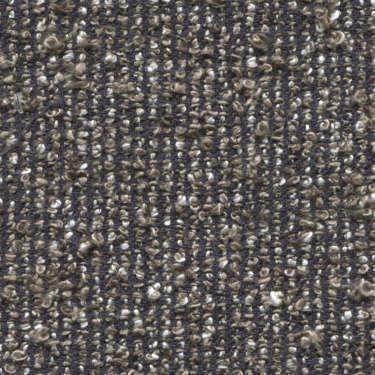 Tissu Holland and Sherry pour veste sur-mesure lin, coton et polyamide mélange bouclé bleu marine et beige