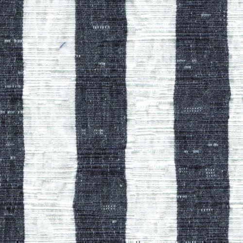 Tissu Holland and Sherry pour veste sur-mesure coton et élastane à rayures larges bleues marines et blanches