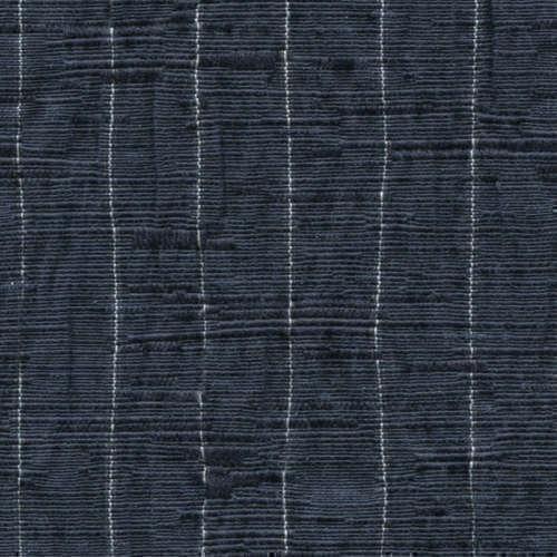 Tissu Holland and Sherry pour veste sur-mesure coton et élastane bleu marine à rayures fines blanches