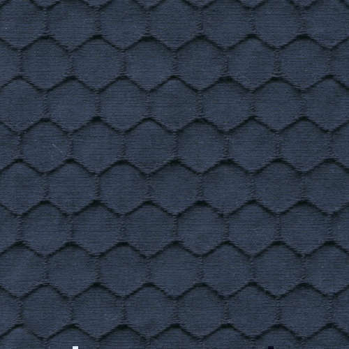 Tissu Holland and Sherry pour veste sur-mesure coton et élastane bleu marine façon nid d'abeille