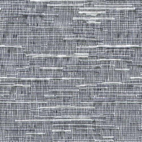 Tissu Holland and Sherry pour veste sur-mesure coton et élastane blanc et bleu marine texture irrégulière