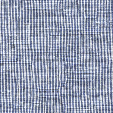 Tissu Holland and Sherry pour veste sur-mesure coton et élastane blanc et bleu à rayures étroites