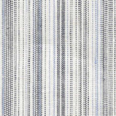 Tissu Holland and Sherry pour veste sur-mesure lin et coton blanc multi rayures bleues