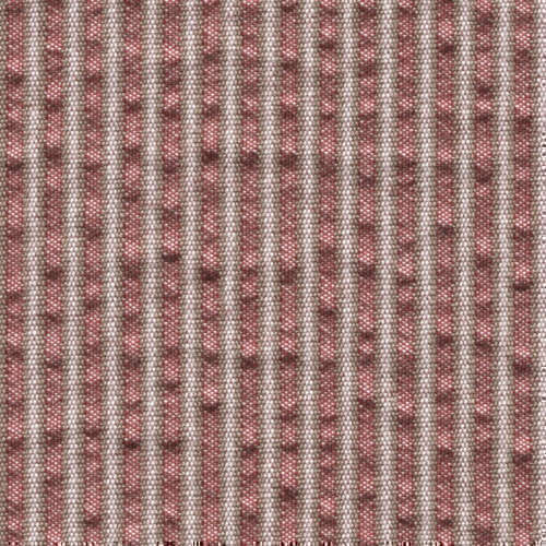Tissu Holland and Sherry pour veste sur-mesure coton et laine rouge à rayures beiges