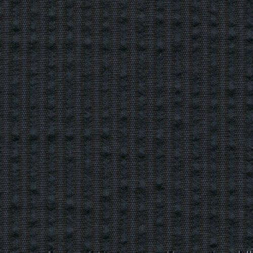 Tissu Holland and Sherry pour veste sur-mesure coton et laine bleu marine à rayures noires