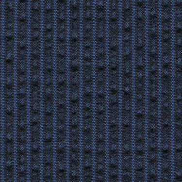 Tissu Holland and Sherry pour veste sur-mesure coton et laine bleu marine à rayures bleues France
