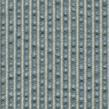 Tissu Holland and Sherry pour veste sur-mesure coton et laine bleu clair à rayures sable