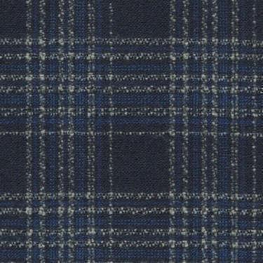 Tissu Holland and Sherry pour veste sur-mesure laine et soie bleu marine à carreaux gris