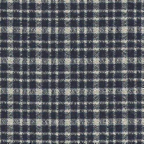 Tissu Holland and Sherry pour veste sur-mesure laine et soie bleu marine à petits carreaux blancs