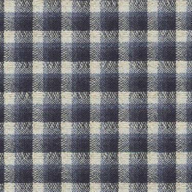 Tissu Holland and Sherry pour veste sur-mesure laine et soie à carreaux bleu marine, blanc et bleu ardoise