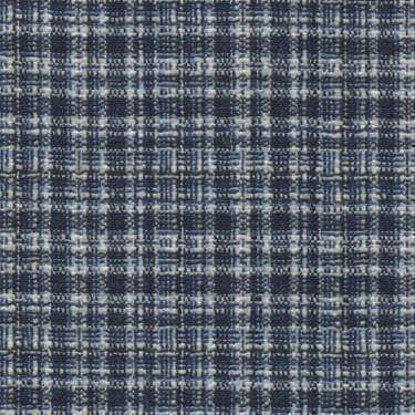 Tissu Holland and Sherry pour veste sur-mesure laine et soie à petits carreaux bleu marine, blanc et bleu