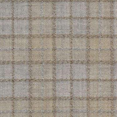 Tissu Holland and Sherry pour veste sur-mesure laine et soie Prince de Galles argent et beige clair