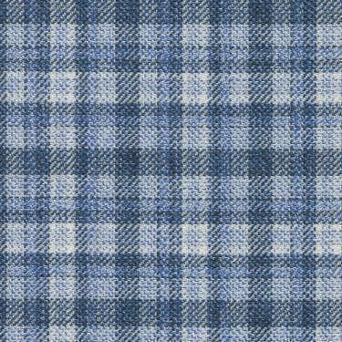 Tissu Holland and Sherry pour veste sur-mesure 100% laine bleu clair à rayures bleu foncé