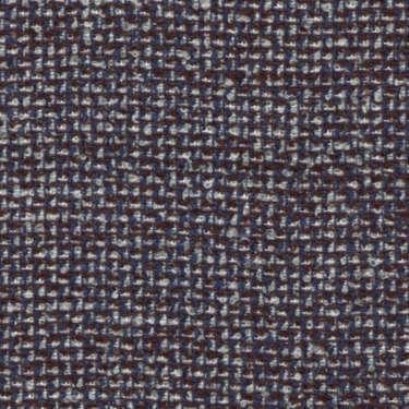 Tissu Holland and Sherry pour veste sur-mesure laine, coton et polyamide bleu marine et marron à petits carreaux