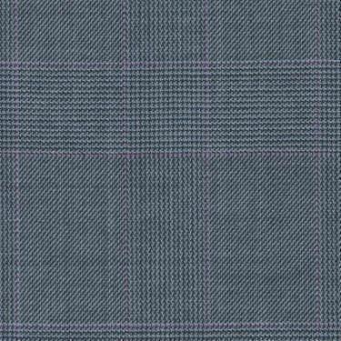 Tissu Holland and Sherry pour costume sur-mesure 100% laine Prince de Galles bleu clair et magenta