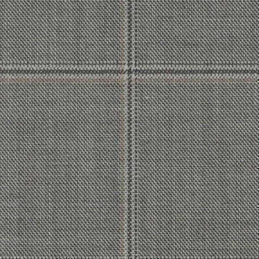 Tissu Holland and Sherry pour costume sur-mesure 100% laine à carreaux fenêtres gris et beige