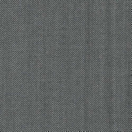 Tissu Holland and Sherry pour costume sur-mesure 100% laine à chevrons gris clair