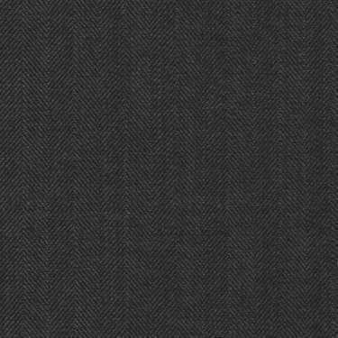 Tissu Holland and Sherry pour costume sur-mesure 100% laine à chevrons gris charbon