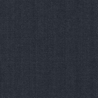Tissu Holland and Sherry pour costume sur-mesure 100% laine à chevrons bleu marine