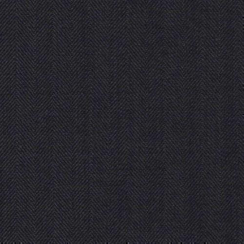 Tissu Holland and Sherry pour costume sur-mesure 100% laine à chevrons noir profond