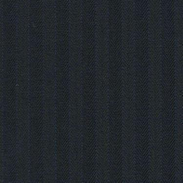Tissu Holland and Sherry pour costume sur-mesure 100% laine à chevrons noir profond et rayures bleutées