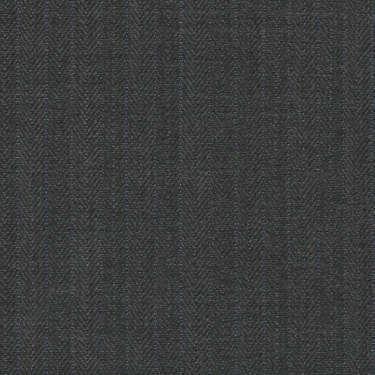 Tissu Holland and Sherry pour costume sur-mesure 100% laine à chevrons gris et rayures bleutées
