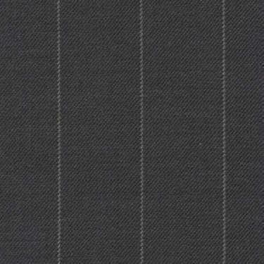 Tissu Holland and Sherry pour costume sur-mesure 100% laine gris à rayures craie