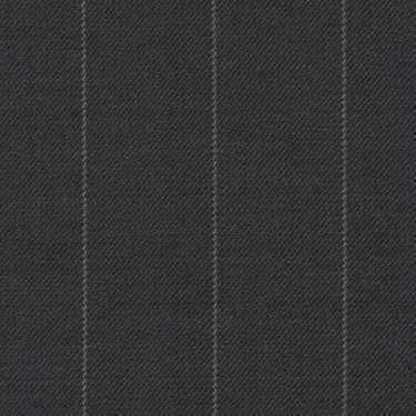 Tissu Holland and Sherry pour costume sur-mesure 100% laine gris charbon clair à rayures craie