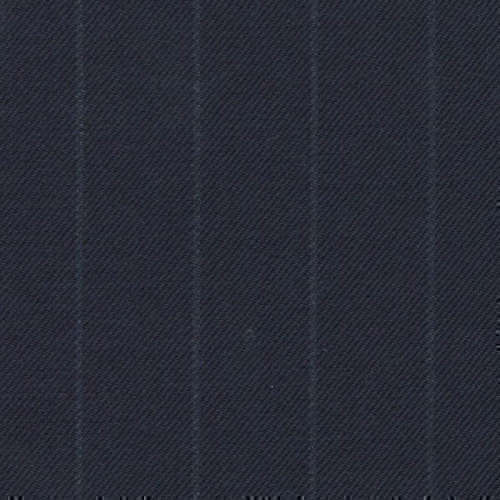 Tissu Holland and Sherry pour costume sur-mesure 100% laine bleu marine profond à rayures craie