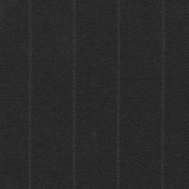 Tissu Holland and Sherry pour costume sur-mesure 100% laine gris charbon à rayures craie