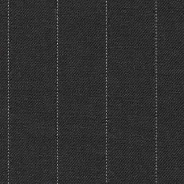 Tissu Holland and Sherry pour costume sur-mesure 100% laine gris charbon à rayures tennis
