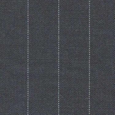 Tissu Holland and Sherry pour costume sur-mesure 100% laine gris à rayures tennis