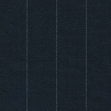 Tissu Holland and Sherry pour costume sur-mesure 100% laine bleu marine charbon à rayures tennis