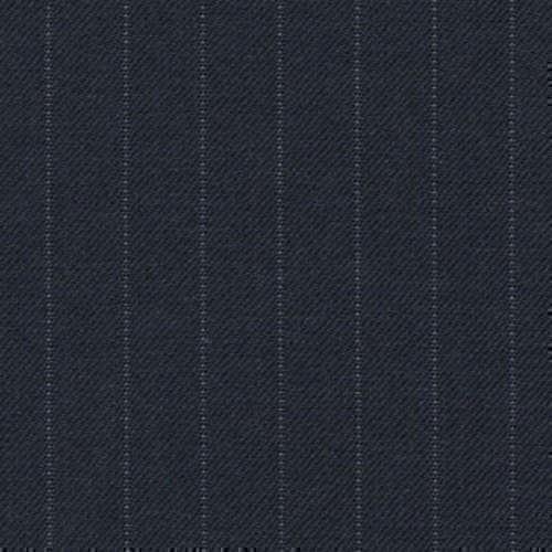 Tissu Holland and Sherry pour costume sur-mesure 100% laine bleu marine à rayures étroite tennis