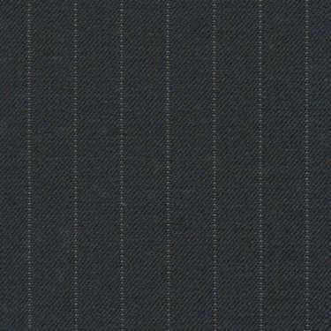Tissu Holland and Sherry pour costume sur-mesure 100% laine gris charbon à rayures étroites tennis