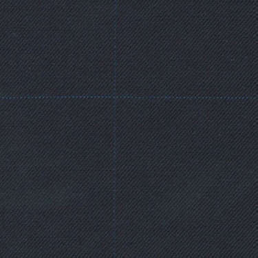 Tissu Holland and Sherry pour costume sur-mesure 100% laine bleu à carreaux fenêtres