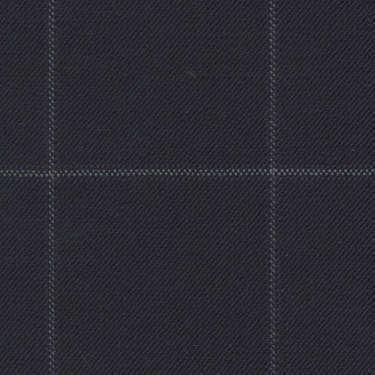 Tissu Holland and Sherry pour costume sur-mesure 100% laine bleu marine à carreaux fenêtres gris et violet