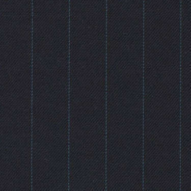 Tissu Holland and Sherry pour costume sur-mesure 100% laine bleu marine à rayures bleu clair
