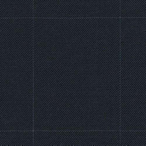 Tissu Holland and Sherry pour costume sur-mesure toile de laine bleu marine à carreaux fenêtre