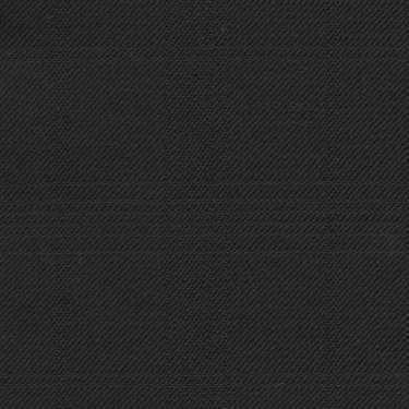 Tissu Holland and Sherry pour costume sur-mesure 100% laine noir à multi-carreaux fenêtre
